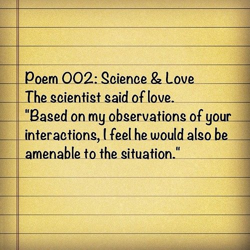 Poem 002: Science and love