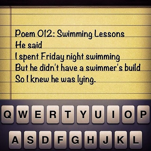 Poem 012: Swimming lessons