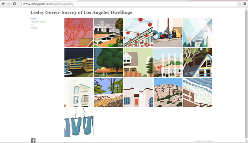 The portfolio of Los Angeles dwellings on Lisa Goren's art website