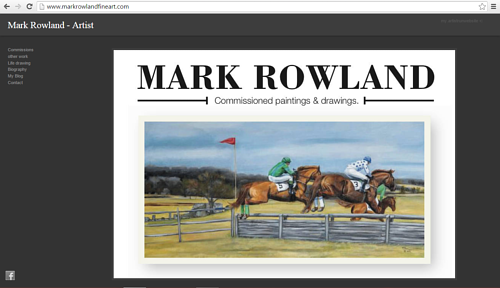A screen capture of the front page of Mark Rowland's website