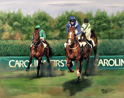 A painting made for a horse race poster in Carolina