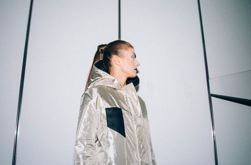 A photo of an anti-surveillance jacket designed by KOVR