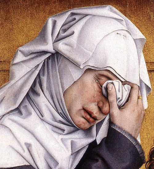 A detail from Rogier van der Weyden's painting Deposition