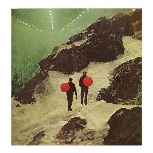 Collage of two men walking up a mountain
