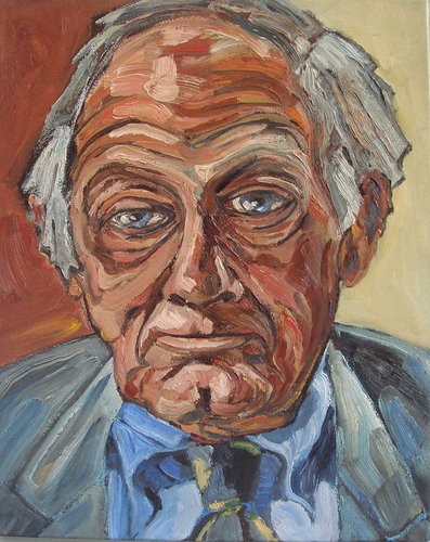 painted portrait of an old man