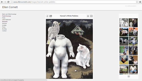 A screen capture of the pastel gallery on Ellen Cornett's website
