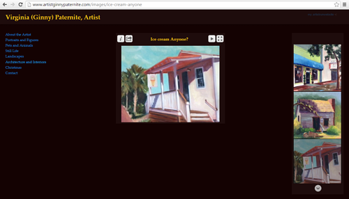 The architectural painting gallery on Ginny Paternite's art website