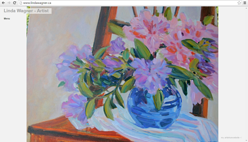 The front page of Linda Wagner's art website
