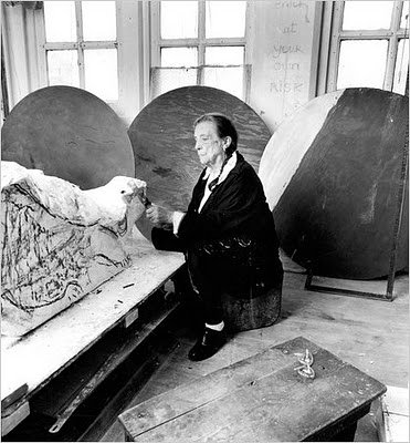 Louise Bourgeoise in her studio