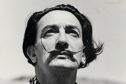 A photograph of Salvador Dali
