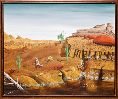 A painting that Peter Doig claims he did not paint