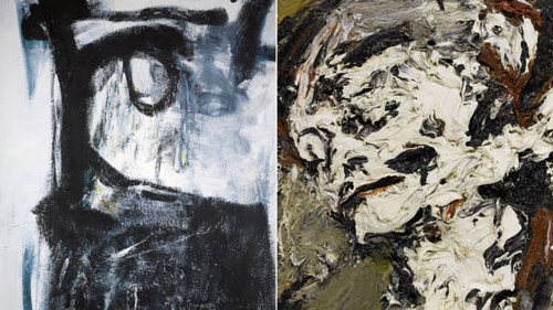 Works by Peter Lanyon and Frank Auerbach in David Bowie's private collection