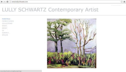 The front page of Lully Schwartz' art website