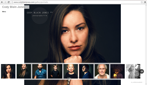 The portrait gallery on Cody Blain Jones' website