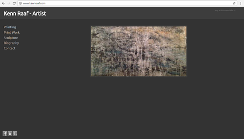 The front page of Kenn Raaf's art website