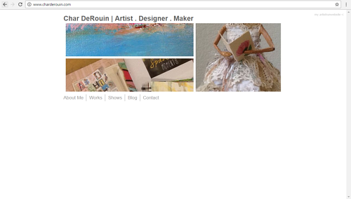 A screen capture of Char DeRouin's website