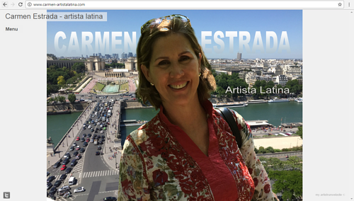 A screen capture of the front page of Carmen Estrada's art website