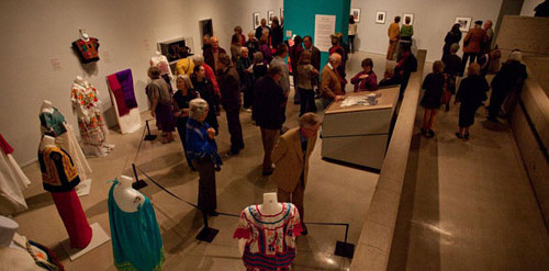A photo of visitors at the Tucson Museum of Art