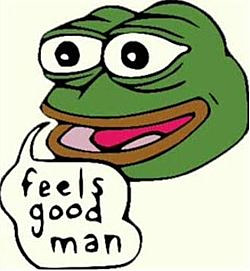 The original Pepe the Frog, by Matt Furie