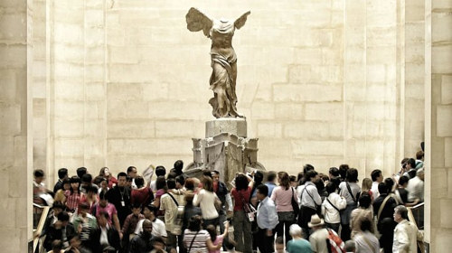 A photo of Winged Victory of Samothrace at the Louvre in Paris