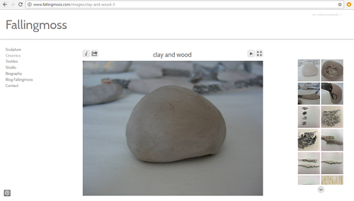 A screen capture of the ceramics gallery on Sarah Martin's website
