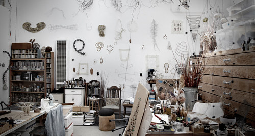 A photo of Mari Andrews' sculpture studio