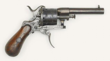 An auction photo of the gun used by Verlaine to shoot Rimbaud
