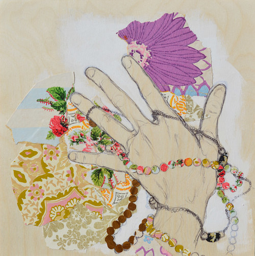 A study of a person's hand adorned with various baubles