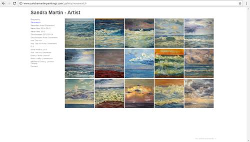 Sandra Martin's gallery of Wavewatch paintings