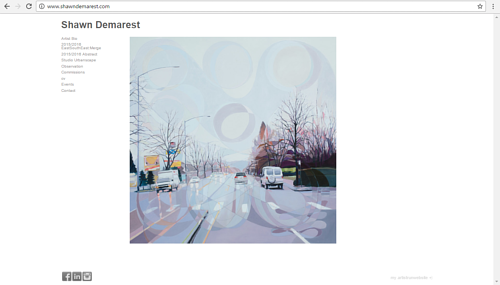 The front page of Shawn Demarest's art website