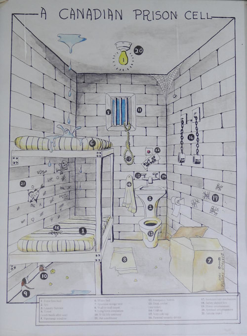 A Canadian Prison Cell by Peter Collins