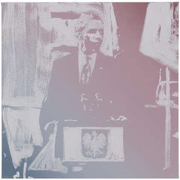 A painting of president Obama by Rob Pruitt