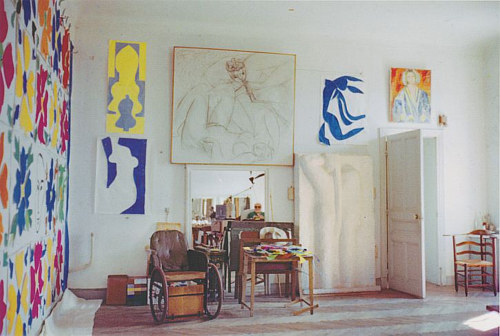 A photo of Henri Matisse's studio