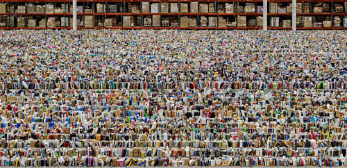 A photograph by Andreas Gursky of an Amazon distribution center