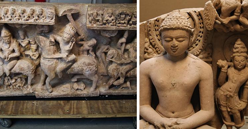 Some of the antiquities seized by border control regarding the Nancy Weiner case