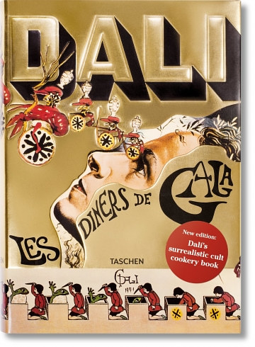 The cover of Salvador Dali's cookbook Les Diners de Gala