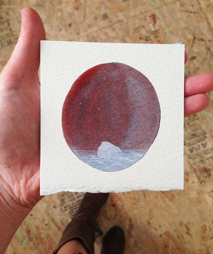 small painting in a hand