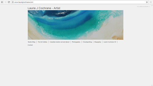 The front page of Laurie J. Cochrane's art website