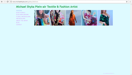 Michael Shyka's gallery of fashion designs