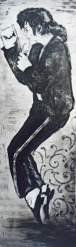 A painting of Michael Jackson
