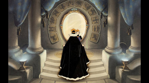 A production cell and key master background from Disney's Snow White and the Seven Dwarves