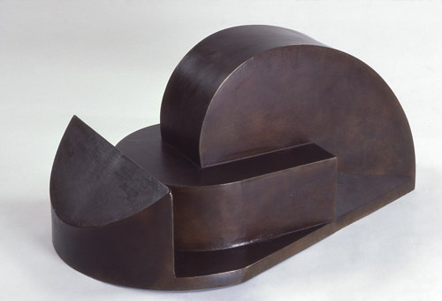 An abstract bronze sculpture from the 1980's