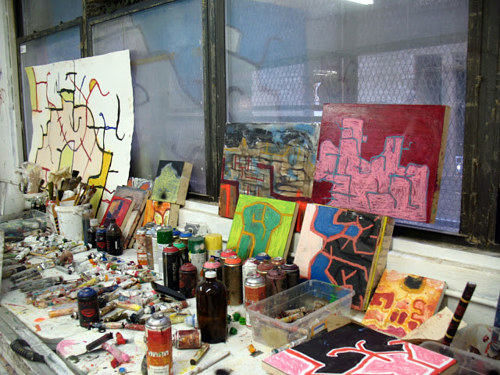 A photograph of the interior of Chuck Webster's studio