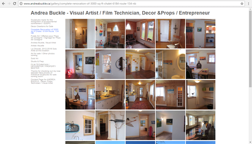 A screen capture of Andrea Buckle's online remodeling gallery