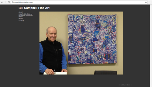 The front page of Bill Campbell's art website
