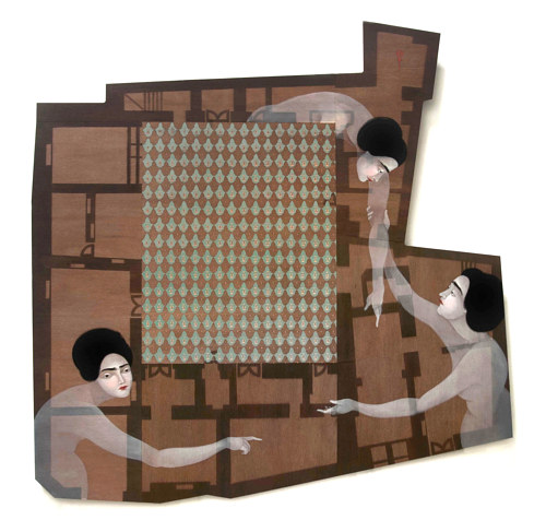 A painting by Hayv Kahraman