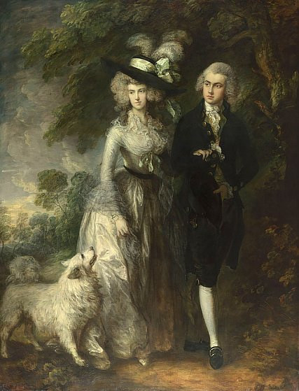 Mr. and Mrs. William Hallett, or a Morning Walk by Charles Gainssborough