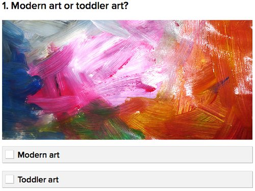 Modern art or toddler art?