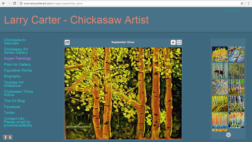 The Aspen Paintings gallery on Larry Carter's art website