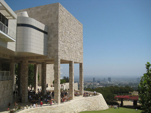 An exterior photo of the Getty Center in LA